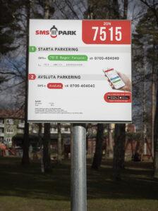 SMS-parkeringsskylt