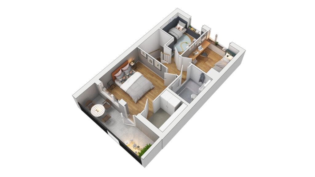 Visionsskiss lägenhet