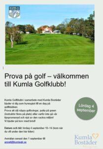 Inbjudan till Kumla Golfklubb